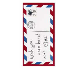 """Pottery Barn 32"""" x 64"""" Wish You Were Here Postcard Beach Towel I 18 Stylish, Oversized Beach Towels For Spreading Out This Summer I {un}covered"""
