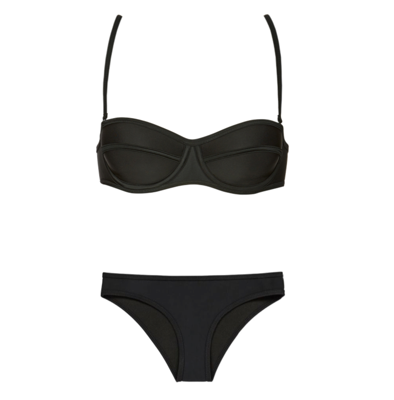 RUESS Oswego Molded Bikini Top and Bottom in Black I 15 Trés Chic Little Black Bikinis Under $100 I {un}covered