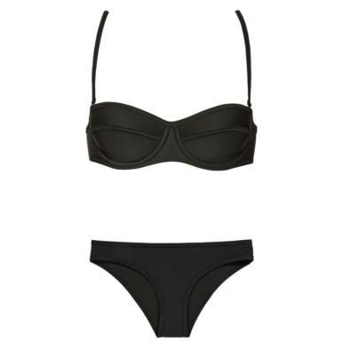 RUESS Oswego Molded Bikini Top and Bottom in Black I 15 Trés Chic Little Black Bikinis Under $100 I {un}covered