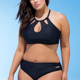 Swimsuitsforall Debutante Black Bikini Set in Black I 15 Trés Chic Little Black Bikinis Under $100 I {un}covered