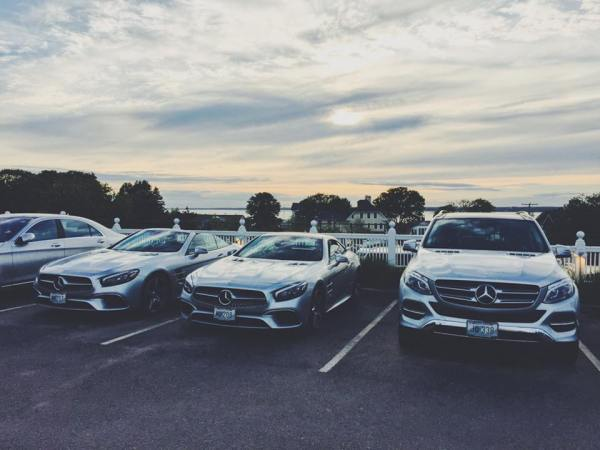 Mercedes-Benz fleet at Ocean House, Watch Hill, Rhode Island, photo credit @mhershen I These Hotels Are Offering Guests the Ultimate Joyride by Passing the Keys to Luxury Cars I The Wander Life