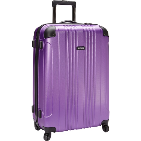 Kenneth Cole Reaction Out of Bounds 4-Wheel Upright Suitcase, 20 Inch in Purple I Here's the Best Rolling Carry-On Luggage You Can Buy Right Now, According to Amazon I The Wander Life
