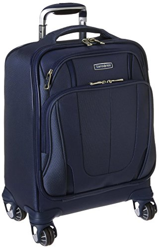 Samsonite Silhouette Sphere 2 Softside Spinner Boarding Bag in Twilight Blue I Here's the Best Rolling Carry-On Luggage You Can Buy Right Now, According to Amazon I The Wander Life