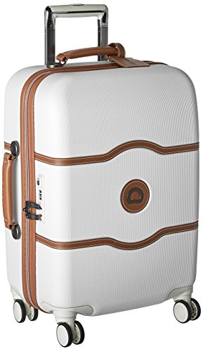 Delsey Luggage Chatelet Hard+ 21 inch Carry-On 4 Wheel Spinner in Champagne I Here's the Best Rolling Carry-On Luggage You Can Buy Right Now, According to Amazon I The Wander Life