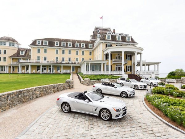 Mercedes-Benz fleet at Ocean House, Watch Hill, Rhode Island I These Hotels Are Offering Guests the Ultimate Joyride by Passing the Keys to Luxury Cars I The Wander Life