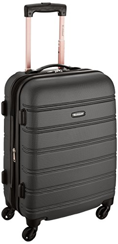 Rockland Melbourne 20-Inch Expandable Abs Carry On Luggage in Black I Here's the Best Rolling Carry-On Luggage You Can Buy Right Now, According to Amazon I The Wander Life