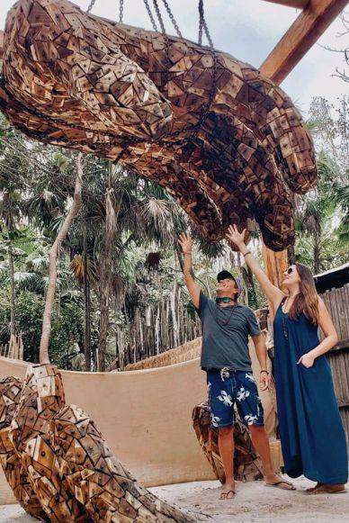 ➵ KEEP REACHING HIGHER ➵ Alberto & Lauren Lama in Tulum, Mexico / @travelinglamas