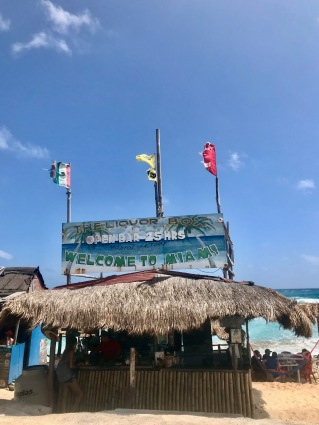 Bar Miami (aka The Liquor Box) on Cozumel Island, Mexico