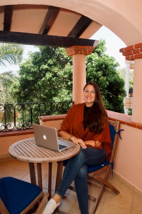 Work hard anywhere - especially from a beautiful balcony! Lauren Lama / @travelinglamas