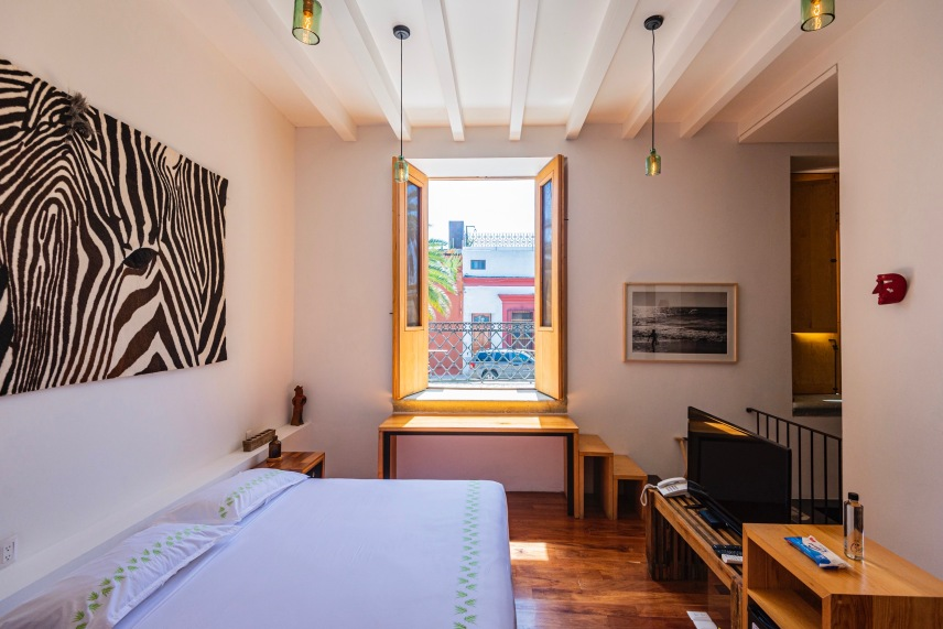 Where to Stay in Oaxaca City: The Best Boutique Hotels in Oaxaca City to Check Into Now (December 2020) / Hotel Los Amantes / TravelingLamas.com / Photo by @travelinglamas
