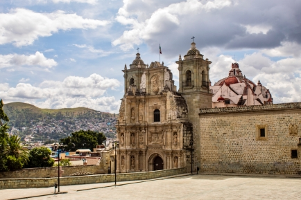 Best Things to Do, Eat & See NOW in Magical Oaxaca City, Mexico (January 2021 /Basílica de Nuestra Señora de la Soledadin Historic Oaxaca Centro / TravelingLamas.com / Photo by@travelinglamas